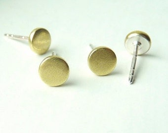 Itty bitty earrings in brass