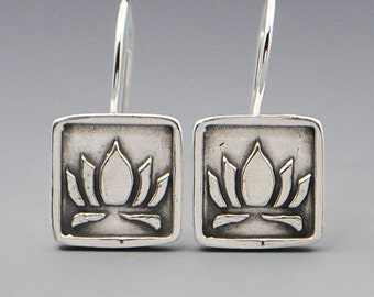 Purity & Beauty- Lotus Flower Stud Post Wire Earrings