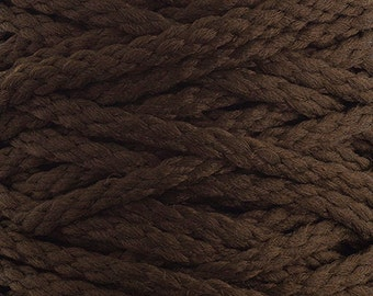 10 Yards Braided Macrame Cord - Dark Brown