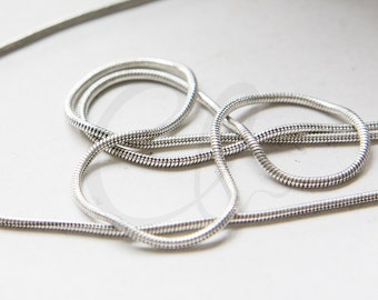 3 Feet Oxidized Silver Plated Brass Base Chains-Snake 1.5mm (SN145R)