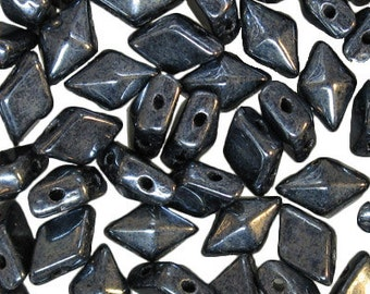 Chalk Lumi Green 5x8mm 30 Pieces Czech DIAMONDUO Beads 8812052 2 Hole