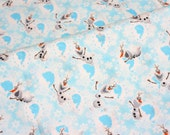 1 meter Disney Frozen Fabric   Olaf  100 cm by 106 cm or 19.6 by 106  inches