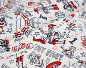 Disney fabric Toy Story Print Woody Buzz Lightyear and Many more Fat Quarter