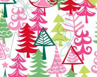 One (1) Yard - Yule Tree Santa Christmas Fabric Michael Miller CX3637-Santa