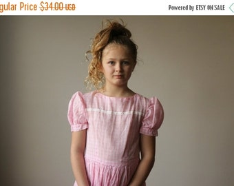 ON SALE 1950s Summer Pink Dress~Size 10/12/14