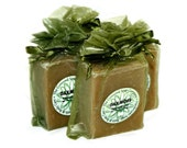 Oakmoss Handmade Cold Process Soap Bar, 4oz - earthy, unisex, men, man,olive green, vegan, natural, organic sustainable palm oil,organza bag