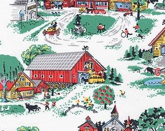 FABRIC MORNINGSIDE FARM by Robert Kaufman 1/2 yard