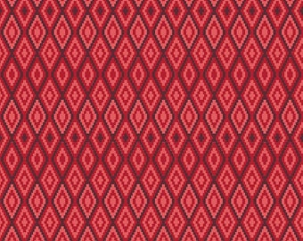 SALE ~ La Vie Boheme ~ Red Stitch print ~ The Quilted Fish for Riley Blake Designs ~ 100% woven cotton by the yard