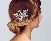 Wedding Hair Comb, Bridal Hair Pin,Hair bridal comb, crystals hair comb, Gold Hair Accessories, Rose Gold Hair Jewelry