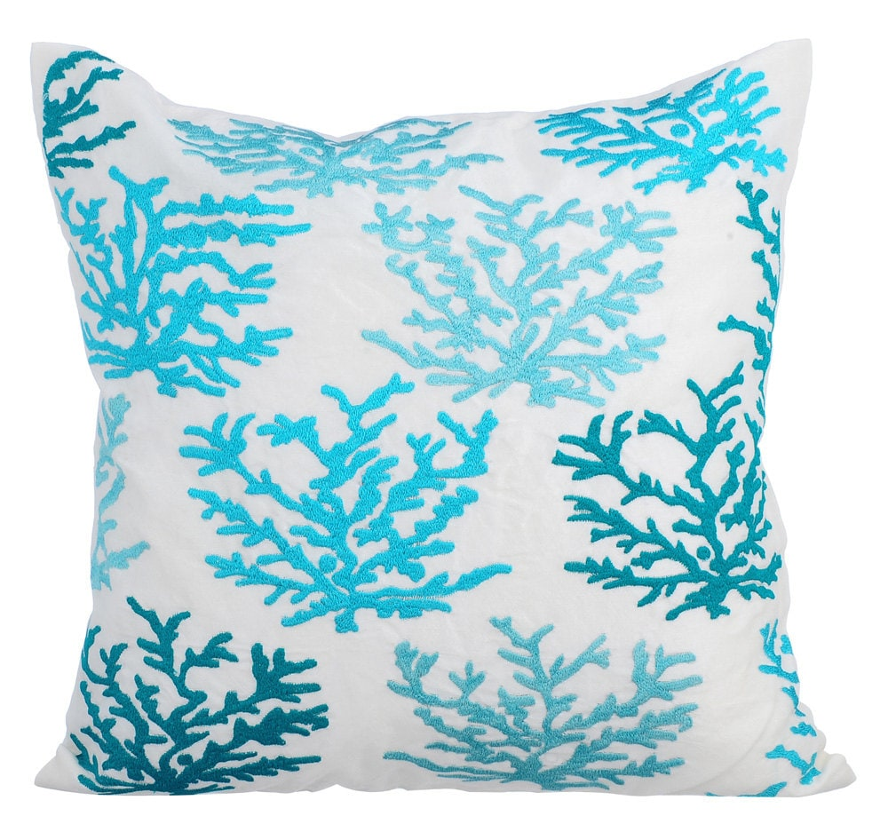 aqua couch sofa cushion covers 16 x 16 pillow covers white. Black Bedroom Furniture Sets. Home Design Ideas