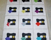 "Set of 12 Applique 6"" x 6""  Quilt Blocks  ... Vintage Style Sewing Machines"