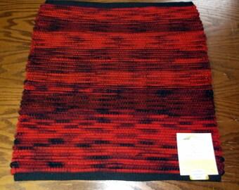 Handwoven Rag Rug, (Fox Ember/26)-065s
