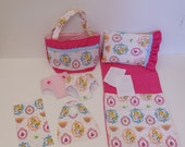Bitty Baby Basics in Alice in Wonderland - Diaper Bag and Diapers with Blanket and Pillow