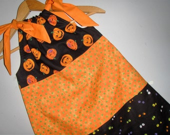 Halloween Dress orange black layered  dress SIZE 6 ONLY ready to ship
