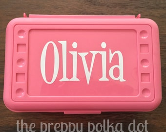 Personalized Art Pencil Box - Simple Design - Name Only