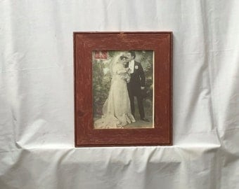 SHABBY ARCHITECTURAL Chic Salvaged Recycled Barn Wood Photo Picture Frame 8x10 376-16