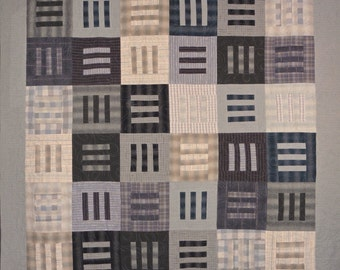 Patchwork Quilt - gray Japanese Modern Thinking throw