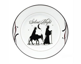 Christmas Decorations DIY Christmas Plate Decal Nativity Set Mary Joseph Silent Night Christmas Holiday Charger Sticker Decal Nativity Decal