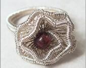 Summer Sale - 10% off - Crinkled Rosette Ring Tutorial