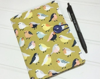 SUMMER SALE - Mini Shopper - Notepad holder List taker - Put a bird on it
