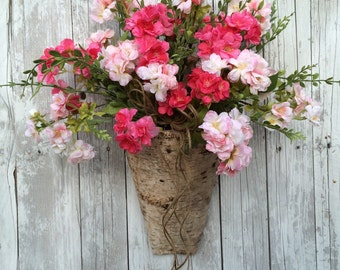Summer Wreath, Cherry Blossom Wreath, Summer Door Decor, Spring Wreath Alternative, Wreath Door Decor, Rustic Door Decor