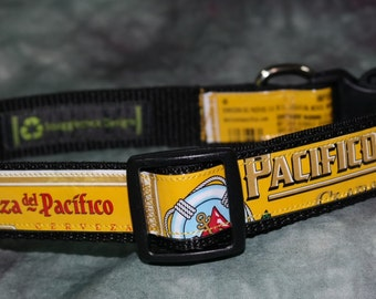 Adjustable Dog Collar from Recycled Pacifico Beer Labels