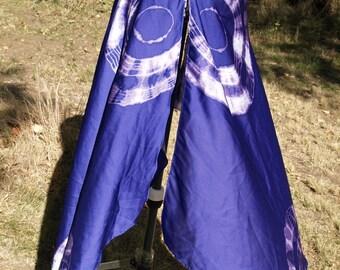 Silk Purple Asymmetrical Wrap Skirt
