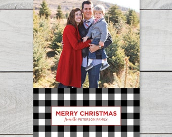 Merry Christmas 5x7 holiday photo card