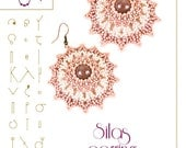 Beading tutorial / pattern Silas earrings with delica beads. Beading instruction in PDF – for personal use only