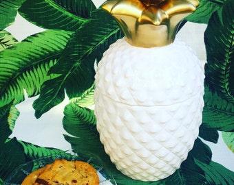 Pineapple Cookie Jar Kitchen Decor pineapple jar Tropical Decor