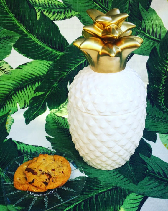 Pineapple Cookie Jar Kitchen Decor Pineapple Jar By Houseofbrooke