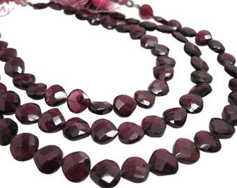 Garnet Briolettes, Garnet Beads, January Birthstone, SKU 4352A