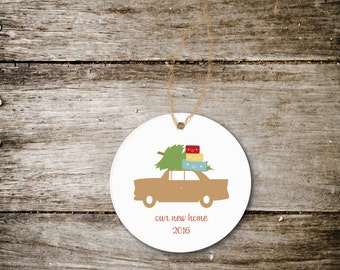Christmas Ornament New Home, We've Moved, New House, Christmas Gift, Housewarming Gift, Ornament for New Home