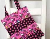 Hello Kitty Hot Pink Crayon Bag Sanrio Art Accessories Coloring Tote Girls Birthday Gift Travel Bag Crayon Holder