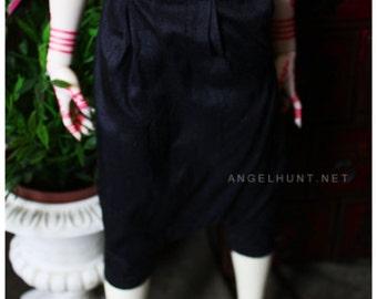 ABJD Dollfie CP Delf sized Black silk Dhoti style Pants