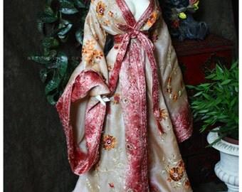 ABJD Dollfie Soom Vintage Fabric Summer Flowers wrap Robe