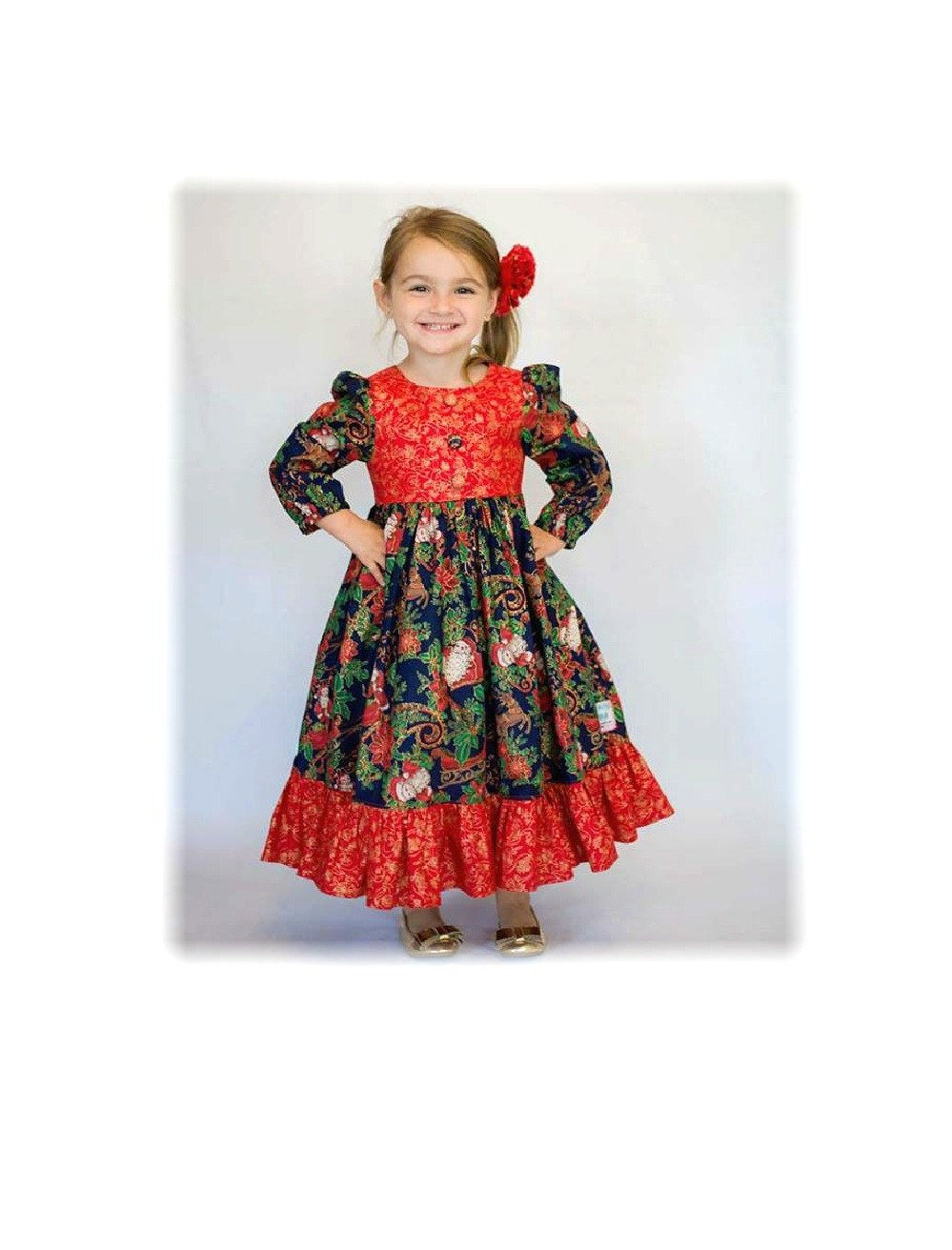 Girls Size 8 Christmas Dress hd gallery