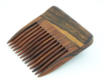 Desert Ironwood and Cocobolo Wood Beard Comb (Handmde in USA) D1  Gift for Him - 5th Anniversary - Gift for Boyfriend - Gift for Husband
