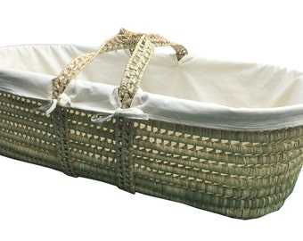 Simple Moses basket liner ONLY 100% Organic Cotton