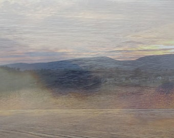 Pontoosic Sunset, photo notecard