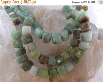 50% Mega Sale 7mm Peruvian Opal Cube Gemstone Round Beads