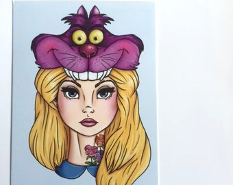 Hunter Alice - Alice in Wonderland - Postcard