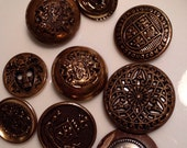 9 Vintage Sewing Buttons