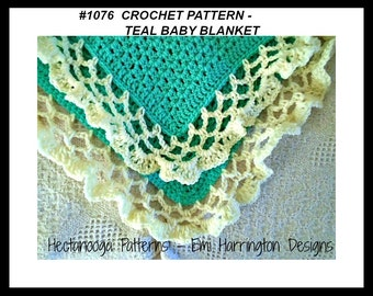 CROCHET PATTERN, Baby Blanket, Bed Throw, , Chair Throw, Shawl,  afghan- #1076, crochet for baby, baby gift, shower gift