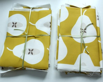 Fabric pack 9 - Large Pear in Mustard