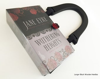 Jane Eyre Book Purse - Wuthering Heights Book Cover HandBag - Literary Book Bag - Bronte Collector Gift - Bookish Wedding Theme