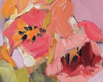 Tulip Time....impressionistic, floral, tulip,impasto, conemporary