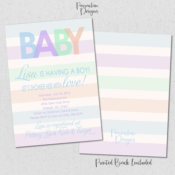 Baby Shower Invitation | Baby Boy Baby Shower Invitation | Printable | Digital | Baby1