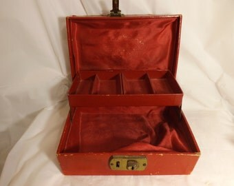 FREE SHIPPING vintage jewelry box for repair (Vault B5)