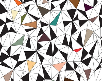 Abstract Geometric Triangles Fabric - Triangles Colorful By Kimsa - Triangles Cotton Fabric By The Yard With Spoonflower
